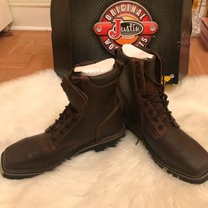 BRAND NEW NEVER WORN JUSTIN WORK BOOTS